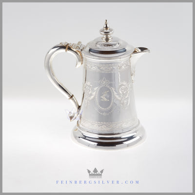 Antique English Tankard Silverplate c.1865 – Walker & Hall