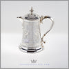 Antique Silver Tankard Silverplate Hollowware For Men Walker and Hall Feinberg Silver