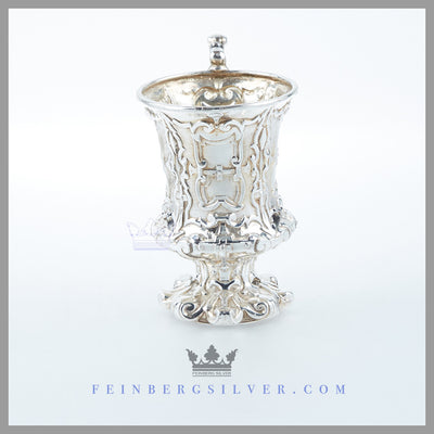 Feinberg Silver - The antique English silver plated child's mug/cup is circa 1855.