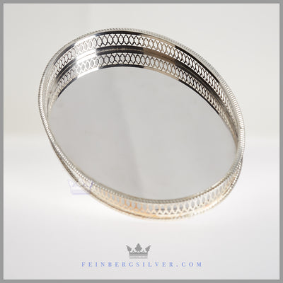 Goldsmiths Silversmiths London Tray Silver EPNS Antique For Sale | Feinberg Silver
