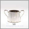 Feinberg Silver - The English silver plated 3 pc bachelor set is shaped cann shaped of neo-classical design.