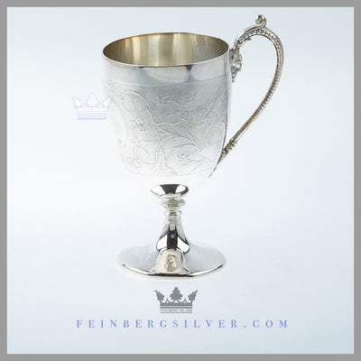 Antique Victorian Cup Silver Plated EPNS For Sale | Feinberg Silver