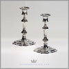 Pair of Antique English George I Style Candlesticks - c. 1875 | William Hutton
