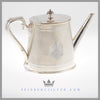 Feinberg Silver - The antique English silver plated teapot is a tapered cann shape.