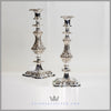 Barker Ellis Candlesticks Silver Plated EPNS Antique Victorian For Sale | Feinberg Silver