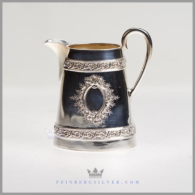 Very Fine, Unusual English Silver Plated Cann Tea & Coffee Service c. 1875
