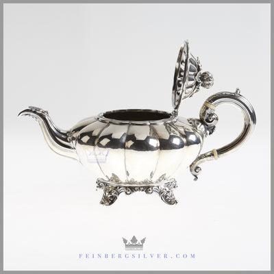 Beautiful, Elegant 4 Pc. Sterling Tea and Coffee Set, London 1834 | Robert Hennell