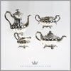Robert Hennell 4pc Tea Coffee Service Silver Plate William IV Antique English For sale | Feinberg silver