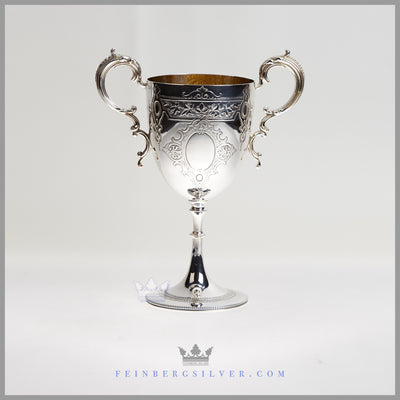 William Marples Goblet Silver Plated EPNS Antique Victorian For Sale | Feinberg Silver