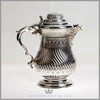 Richard Hood & Son Jug Silver Plated EPNS Ivory Antique Victorian For Sale | Feinberg Silver