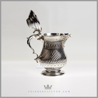 Very Fine Antique English Silver Plate Flagon/Beer Jug - c. 1850 | Richard Hood