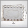 Antique Silver Basket Victorian Centerpiece Wedding Brides Basket Feinberg Silver - The very fine quality English silver plate Chinoiserie basket has angled sides of fluting that each have alternating double lobes of plain, hand chased decoration.