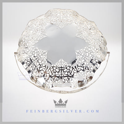 Feinberg Silver - The Round English silver plated basket has a reticulated rim.