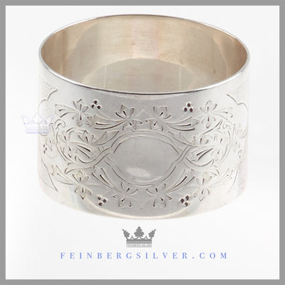 Antique English Sterling Silver Napkin Ring - Sheffield 1880 | Henry Atkins