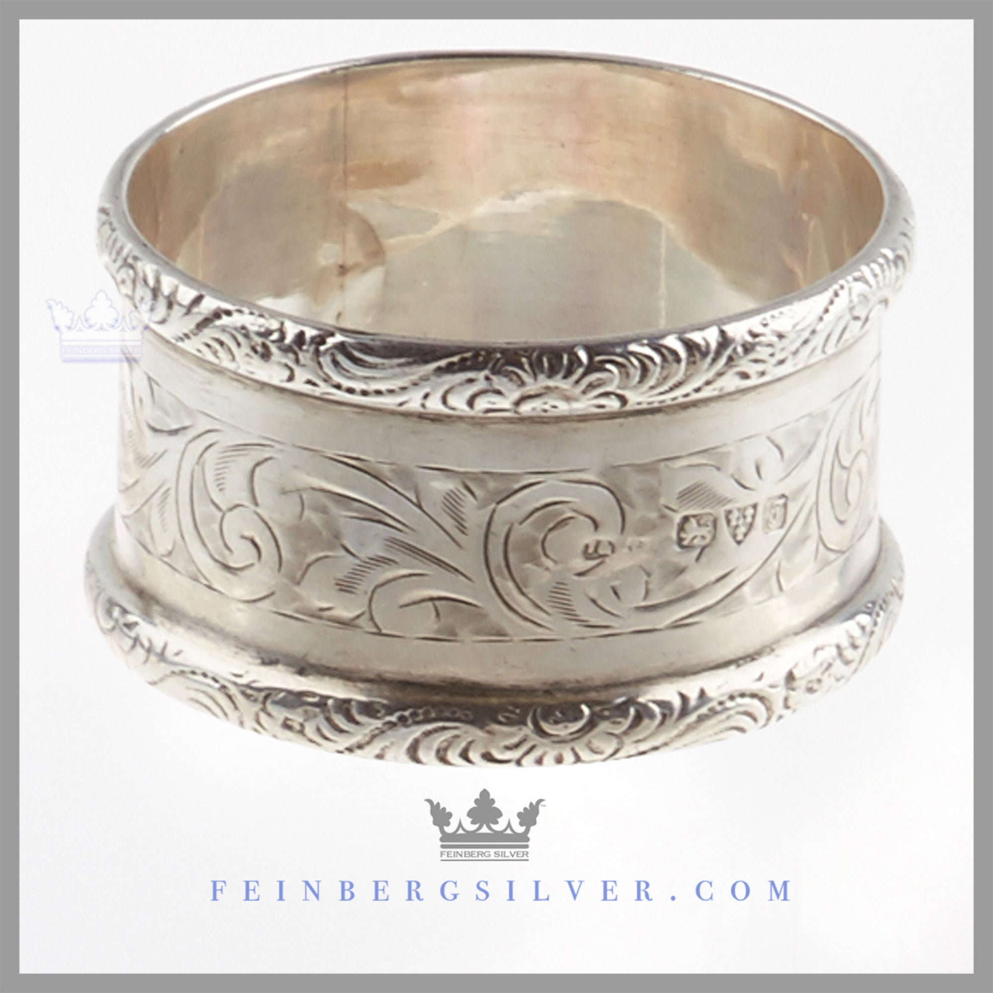 Antique English Sterling Silver Napkin Ring Chester 1919 Feinberg Silver