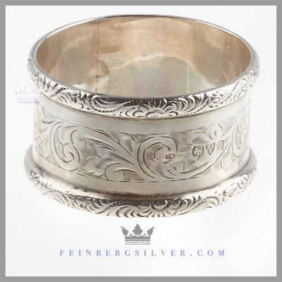 Antique English Sterling Silver Napkin Ring - Chester 1919
