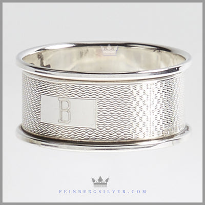 Antique English Sterling Silver Napkin Ring | Feinberg Silver