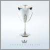 This neo-classical goblet from the Victorian Period has a vase shaped bowl. Feinberg Silver