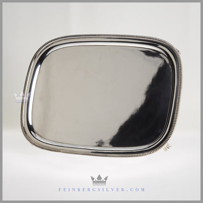 Antique English Early Silver Plated Oblong Salver | C.1845 | Mappin & Webb