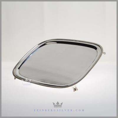 Mappin & Webb Tray Silver Plated EPNS Antique Victorian For Sale | Feinberg Silver