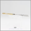 Antique English Silverplated & Ivory Bread Fork - c. 1865 | Hand Engraved