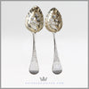 Sterling Silver Antique English Berry Spoons | Feinberg Silver