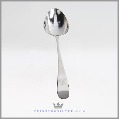 Antique Sterling Silver Dressing Spoon - Dublin 1797 | Possibly Samuel Neville