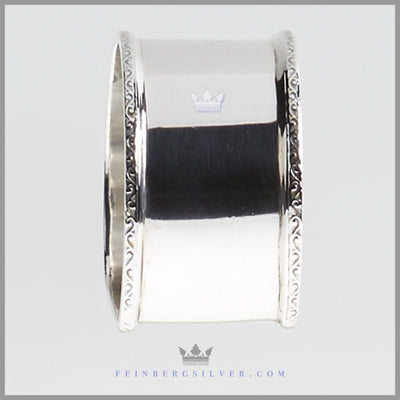 Sterling Silver Antique English Napkin Ring | Feinberg Silver