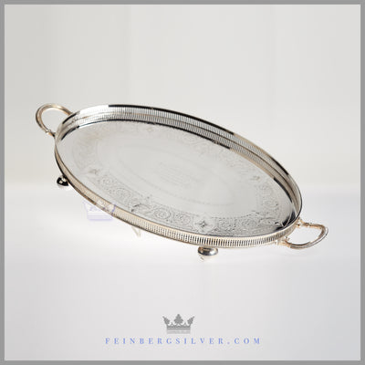 Walker & Hall Tray Silver Plated EPNS Antique Victorian For Sale | Feinberg Silver