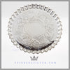 "Boardman & Glossop Antique English Silver Tray 8"" Salver Victorian 