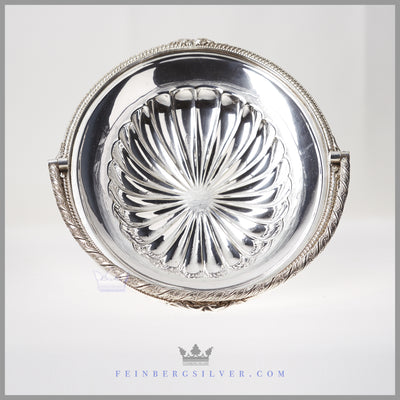 Antique English Silver Plated Oval Basket - circa 1865 | Walker & Hall