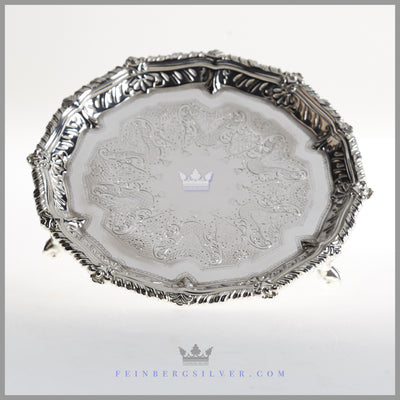Antique English Silverplated Salver/Tray - c 1875 | Mappin & Webb