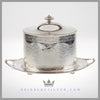 Antique Victorian Biscuit Box Silver Plated EPNS For Sale | Feinberg Silver