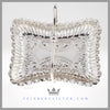 Antique Silver Wedding Centerpiece Brides Basket Feinberg Silver - The oblong English silver plated basket has a crimped edge and a simple swing handle with a ball center.