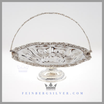 Antique Silver Basket Brides Basket Wedding Centerpiece Feinberg Silver