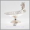 Delightful Silver Nut Dish with Cast Squirrel | c. 1880