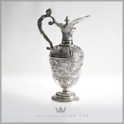 Elkingtin Ewer Silver Plated EPNS Antique Victorian For Sale | Feinberg Silver