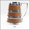 Antique English Silver and Oak Tankard | Feinberg Silver