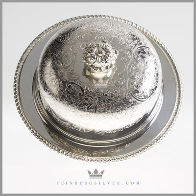 Antique Silverplate Serving/Muffin Dish c. 1900 | Barker Brothers