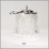 Antique English Silver Plated & Crystal Biscuit Barrel - circa 1880 | Walker & Hall