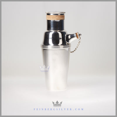 Cocktail Shaker, Antique English Silverplate - c. 1920 | Gladwin