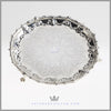 William Mammatt Antique English Silver Tray Salver Engraved | Feinberg Silver
