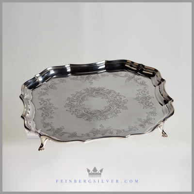 Barker Ellis Tray Silver Plated EPNS Antique Victorian For Sale | Feinberg Silver