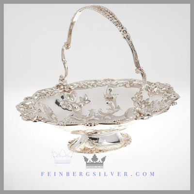 Antique Victorian Basket Silver EPNS For Sale | Feinberg Silver