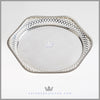 Martin Hall Antique English Silver Salver Tray Victorian | Feinberg Silver