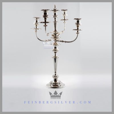 Extremely Fine Pair of Old Sheffield 5 Light Candelabra - circa 1820