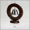 Antique English Nautical Silver & Oak Gong - circa 1880