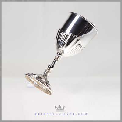 Silverplate Goblet - Antique English, Albany Pattern c.1920 | Pinder Brothers