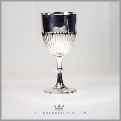 Antique English Silverplate Fluted Goblet/Chalice c. 1875 | Atkins Brothers