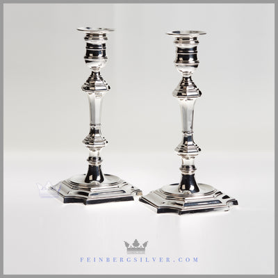 Pair of Victorian George I Style Candlesticks - circa 1915